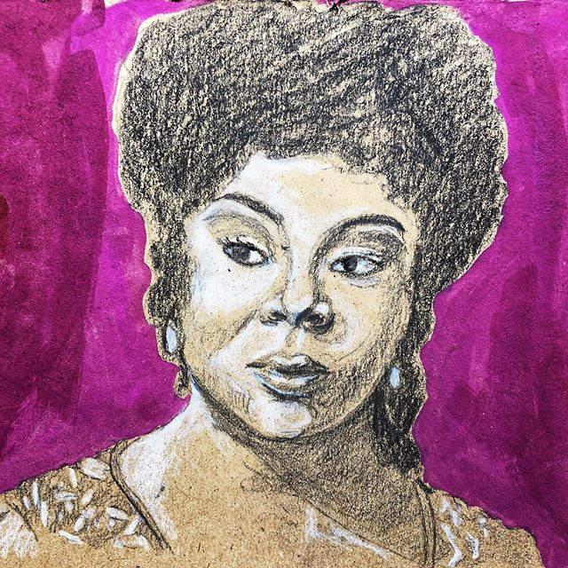 #MartinaArroyo is an #AfricanAmerican #soprano #operasinger. She was one of the first few black women to enter the world of opera. She became a star when she replaced Birgit Nilsson in a #Met production of #Aida. The rest, as they say, is history.  Arroyo is known for her wit and humor. She has also helped to popularize and demystify opera by appearing in numerous talk show interviews. • • • • • #singer #afrolatina #theatre #opera #gouache #pencil #tonedpaper #illustrator #illustratorsoninstagram #artoninstagram #blackhistorymonth #blackhistory #puertorican