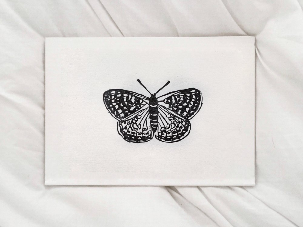 Marsh Fritillary Linocut Print