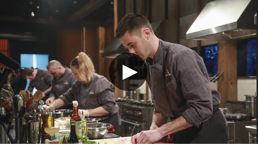 "Matt Ginn, chef at Evo Kitchen + Bar in Portland and the 2015 Maine Lobster Chef of the Year, won the episode and a $10,000 prize on Food Network's ""Chopped"" Tuesday night.  Chef Matt Ginn, shown in 2015 when he won Maine Lobster Chef of the Year, won on an episode of ""Chopped"" that aired Tuesday night.   Ginn's episode, ""Room for 'Shrooms,"" aired at 9 p.m. on the Food Network. Evo invited the public to cheer for Ginn at a viewing party Tuesday evening in the downstairs portion in the restaurant, where the show streamed while small bites and drink specials were served. Part-time Mainer Martha Stewart was one of the celebrity judges critiquing Ginn's food.  ""It feels great to be a Chopped champion,"" he said at the end of the episode. ""I just did a three-course dinner for Martha Stewart and two Iron Chefs."""