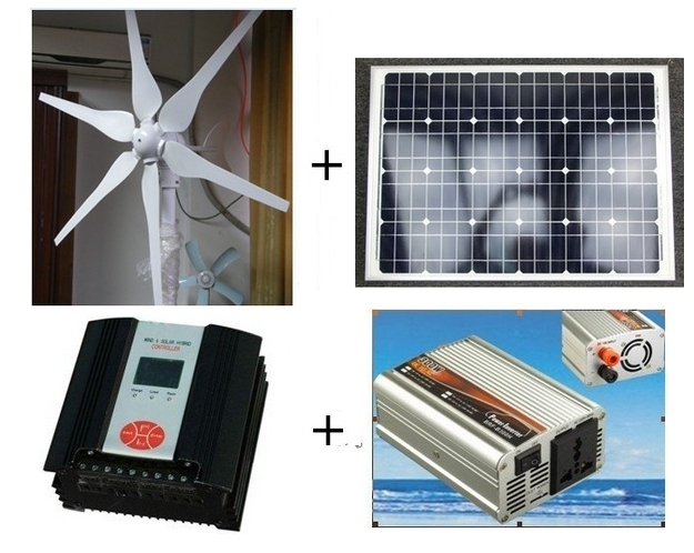 WindSoleil 400-Watt Off-Grid Solar + Wind Hybrid Kit WindSoleil Solar and  Wind Energy