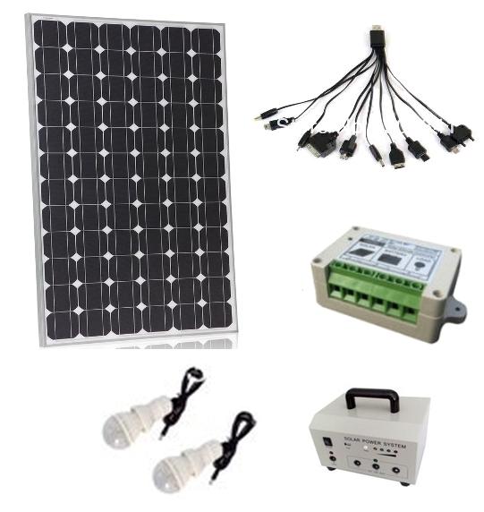 WindSoleil 100Watt Portable Outdoors Mini Solar System OffGrid Kit