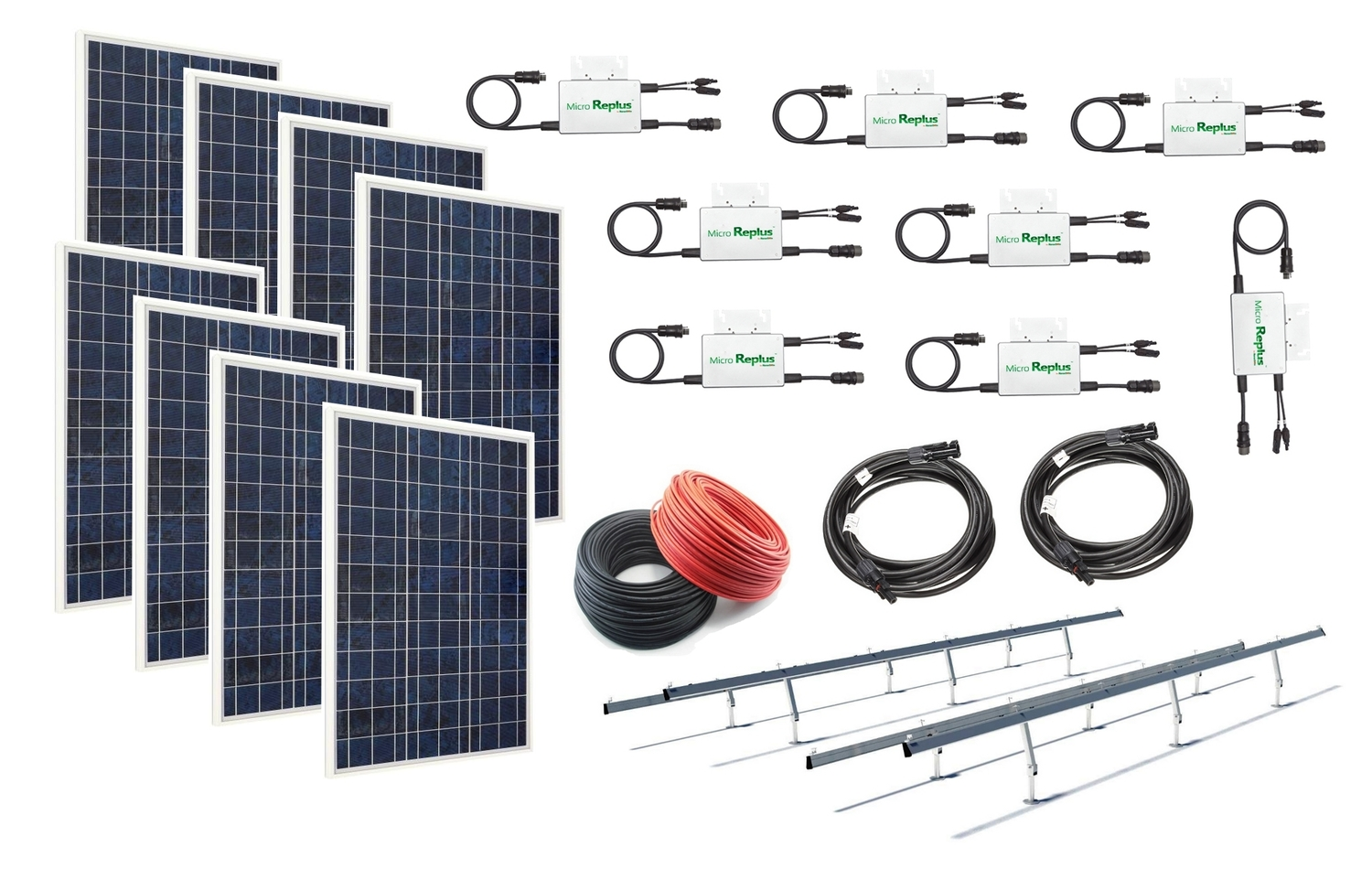 Windsoleil 208kw Grid Tie Solar Power System With Micro Inverters Wiring Panels To Inverter
