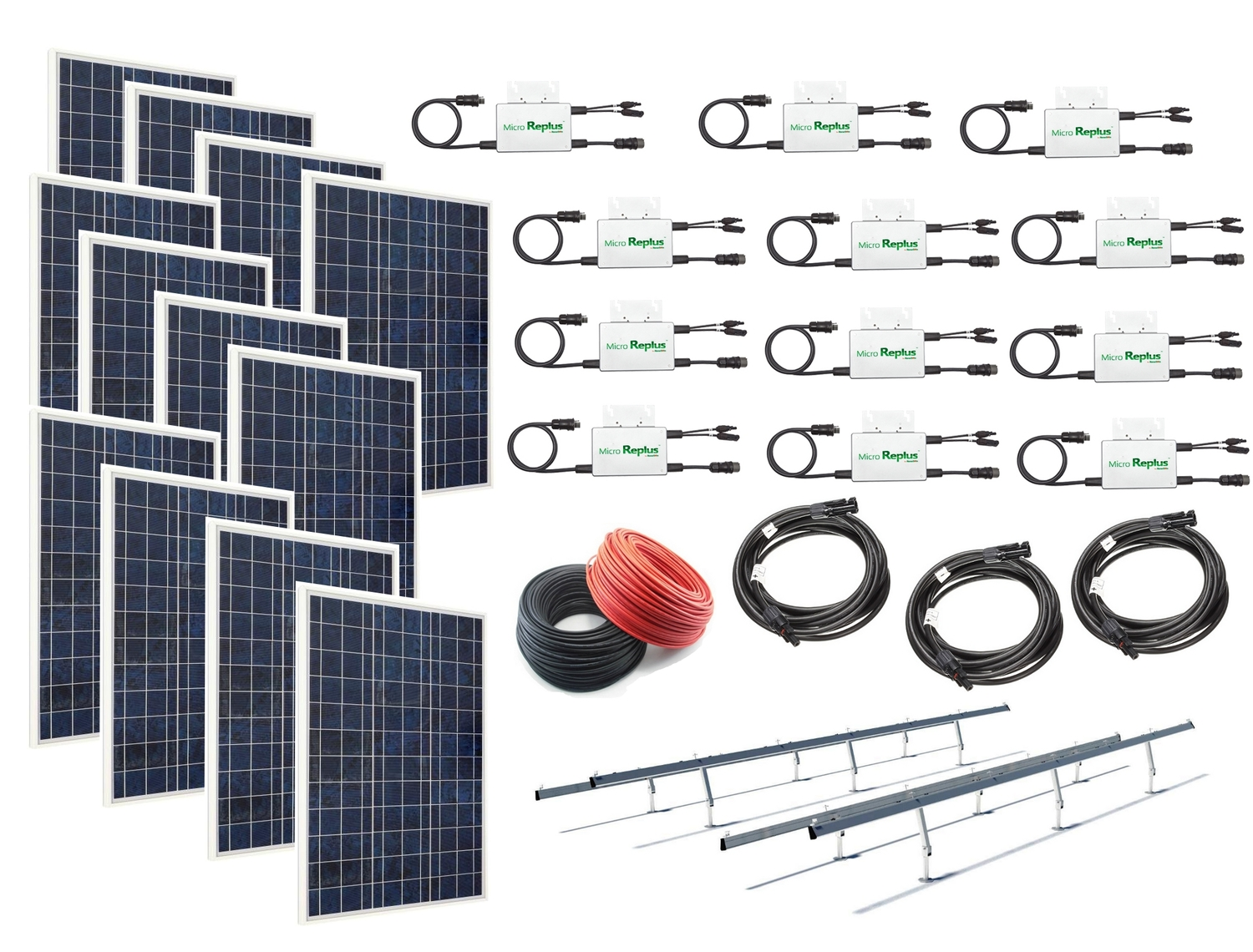 WindSoleil 3.12kW Grid-Tie Solar Power System with Micro Inverters