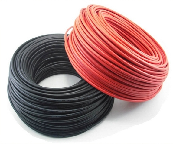 100-Meters Black & Red Solar Cable
