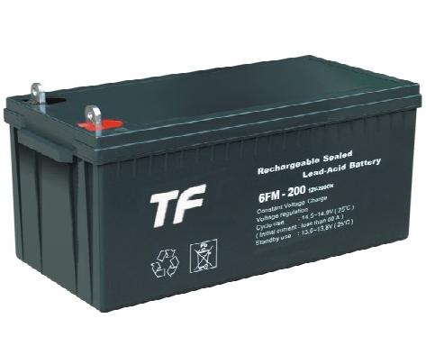 TF 12V/200AH Fully Sealed Solar Power Lead Acid Battery [Gel Battery Option]