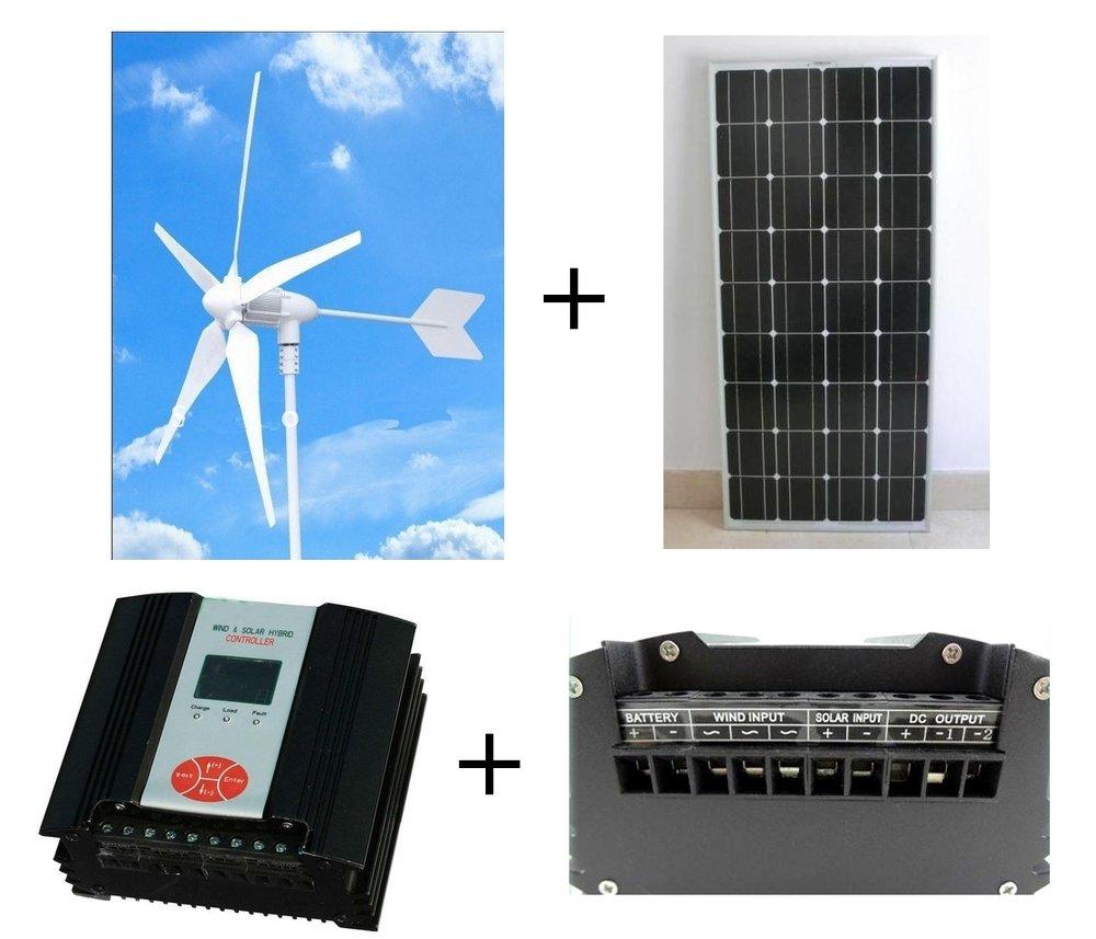 WindSoleil 600Watt OffGrid Solar Wind Hybrid Kit WindSoleil