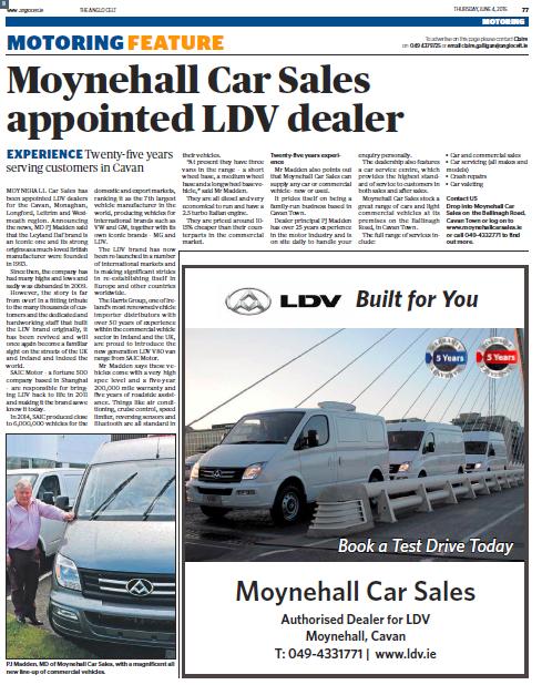 MOYNEHALL CAR SALES CAVAN LDV#LDVIRELAND