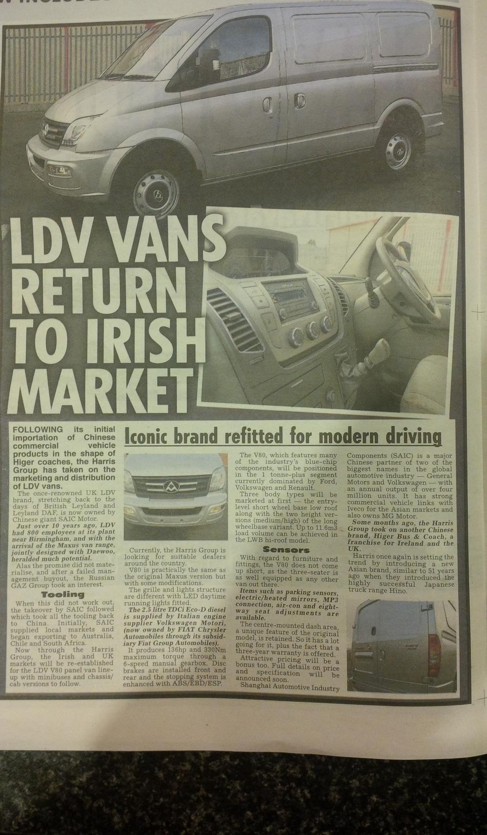 LDV Write up THE IRISH DAILY STAR Paper 12th FEB 2015.jpg
