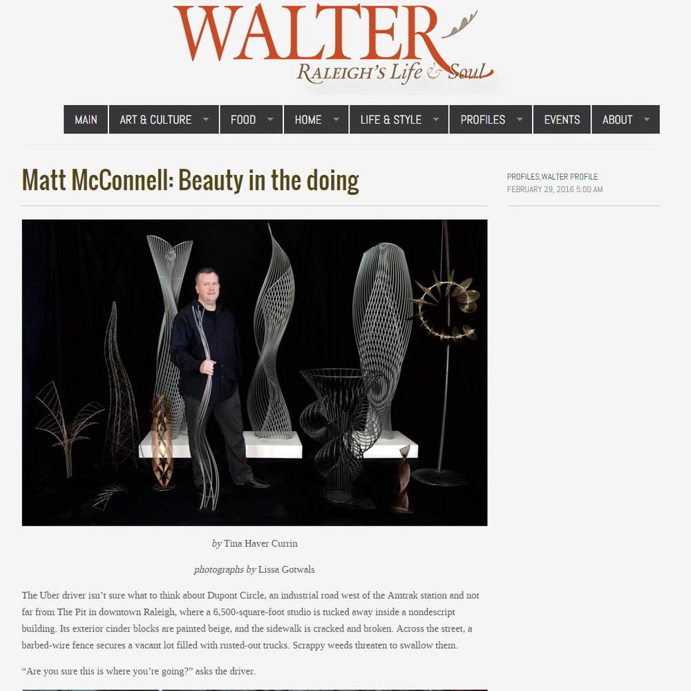 Feature article on Matt & McConnell Studios
