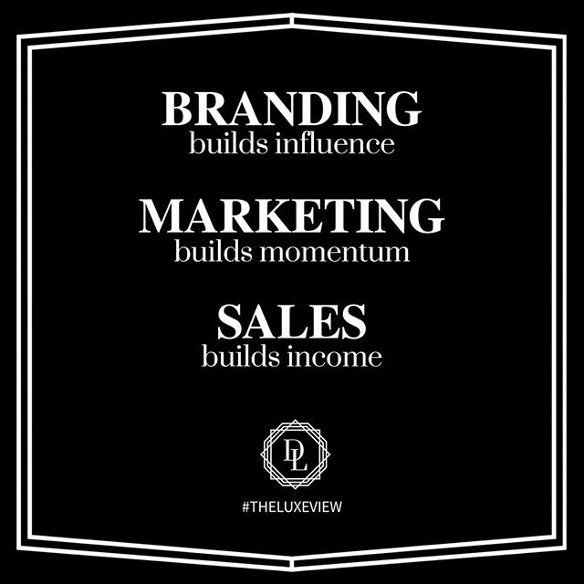 BRANDING + MARKETING = SALES