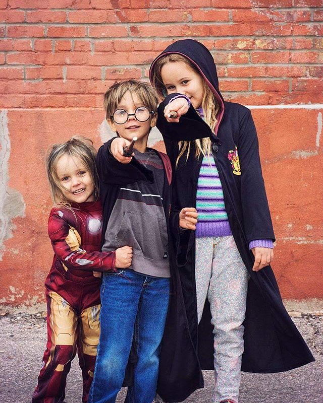 Trick or treat!  Happy Halloween from the LIMH family!  #trickortreat #harrypotter #ironman #limhkids #halloweennight