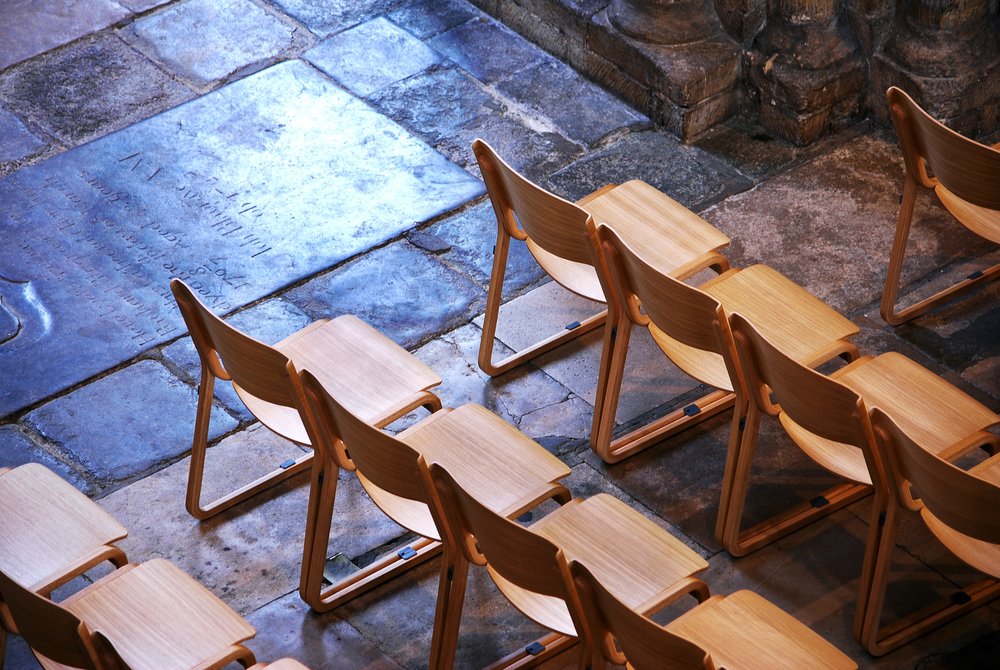 Theo chairs designed by Simon Pengelly for Chorus Furniture are used within the cathedral to provide a flexible space.