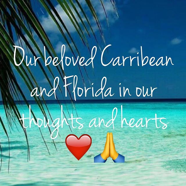 Our heart aches 💔with all the devastation of these beautiful islands and all the people affected 🙏 please be safe Miami our hearts are with you ❤️#besafe #hurricaneirma #cometogether #mothernature