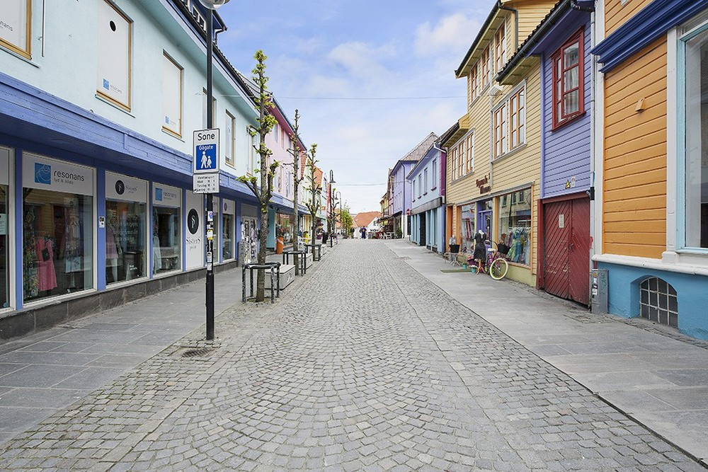 Den fargerike gaten i Stavanger
