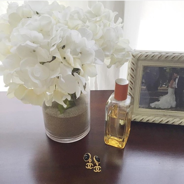Vintage Chanel + Hermes perfume I wore on my wedding day