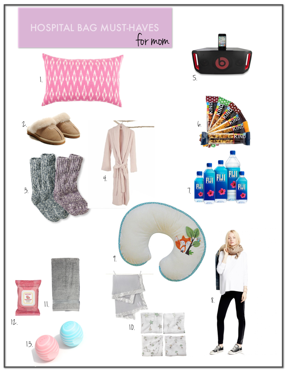 hospital bag must haves mom