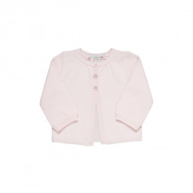 Bonpoint Pink Cashmere Cardigan