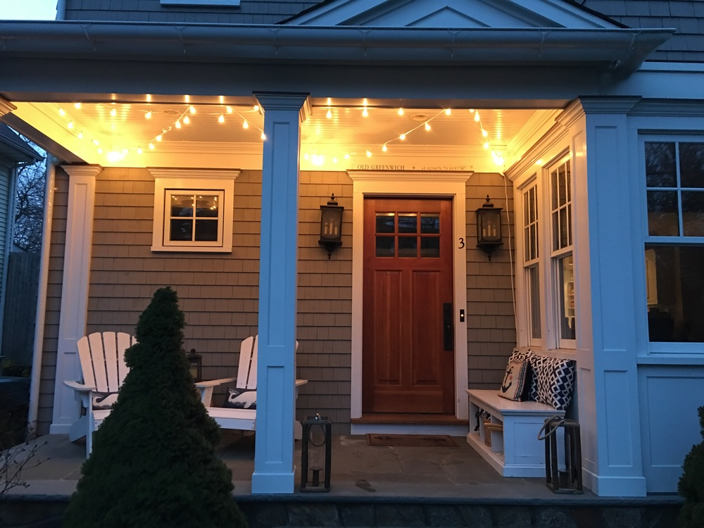 {Twinkle, Twinkle: The porch is ready for an evening glass of rosé thanks to the hubby + Target}