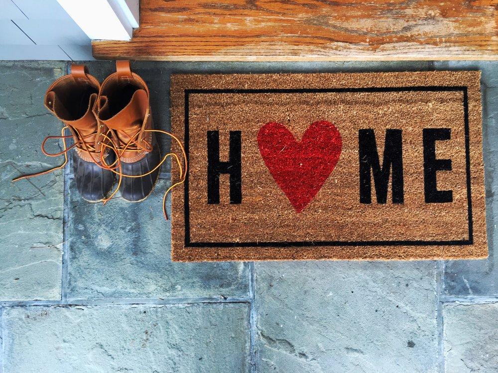 Target Home Door Mat and Bean Boots