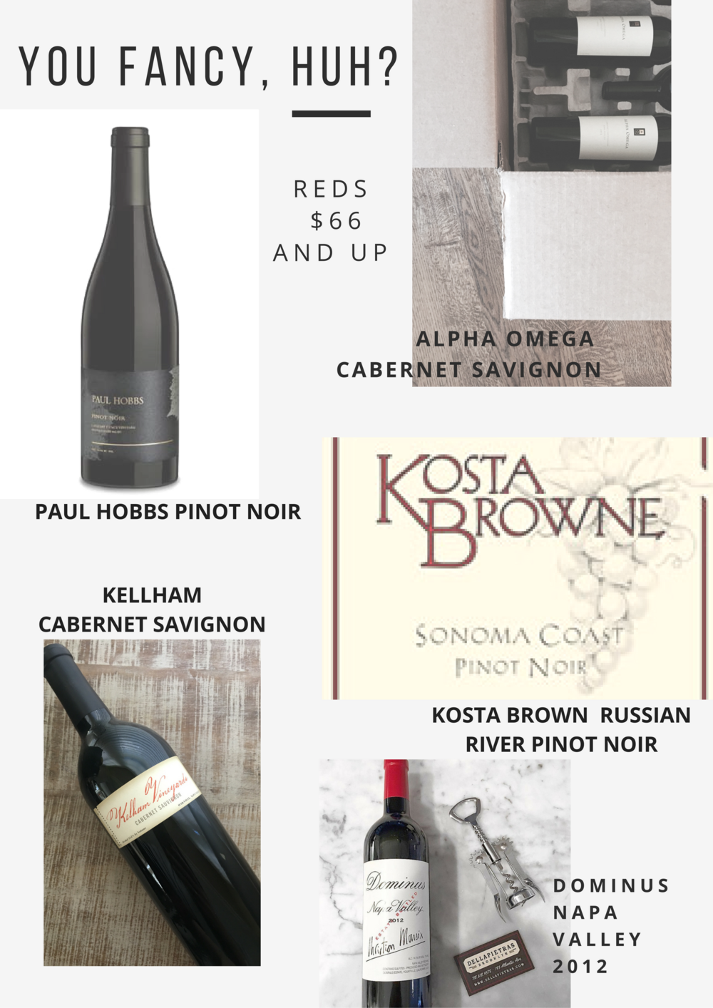 Special Occassion Red Wines
