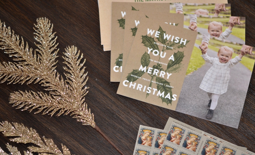 Tiny Print Holiday Cards