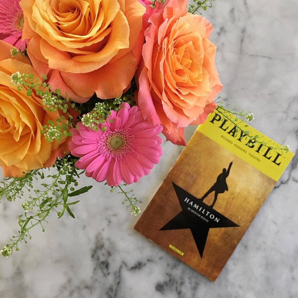 {Playbill from our mother's birthday evening spent watching the incredible Hamilton}