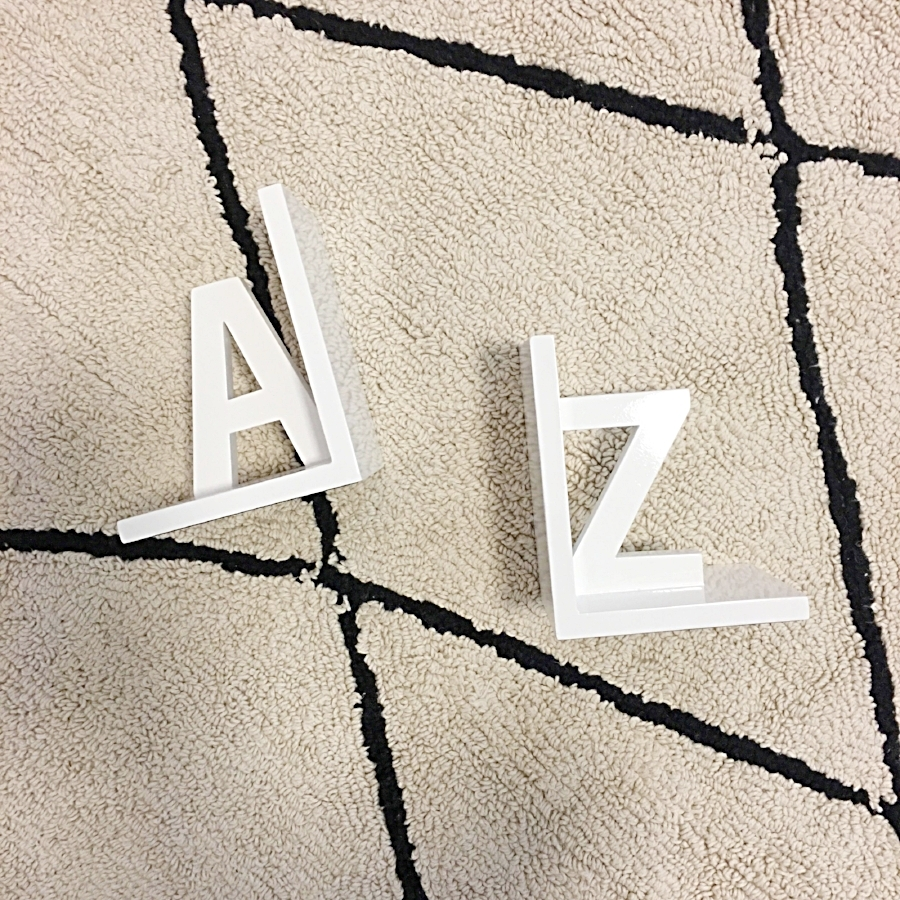 Nate Berkus A to Z Bookends