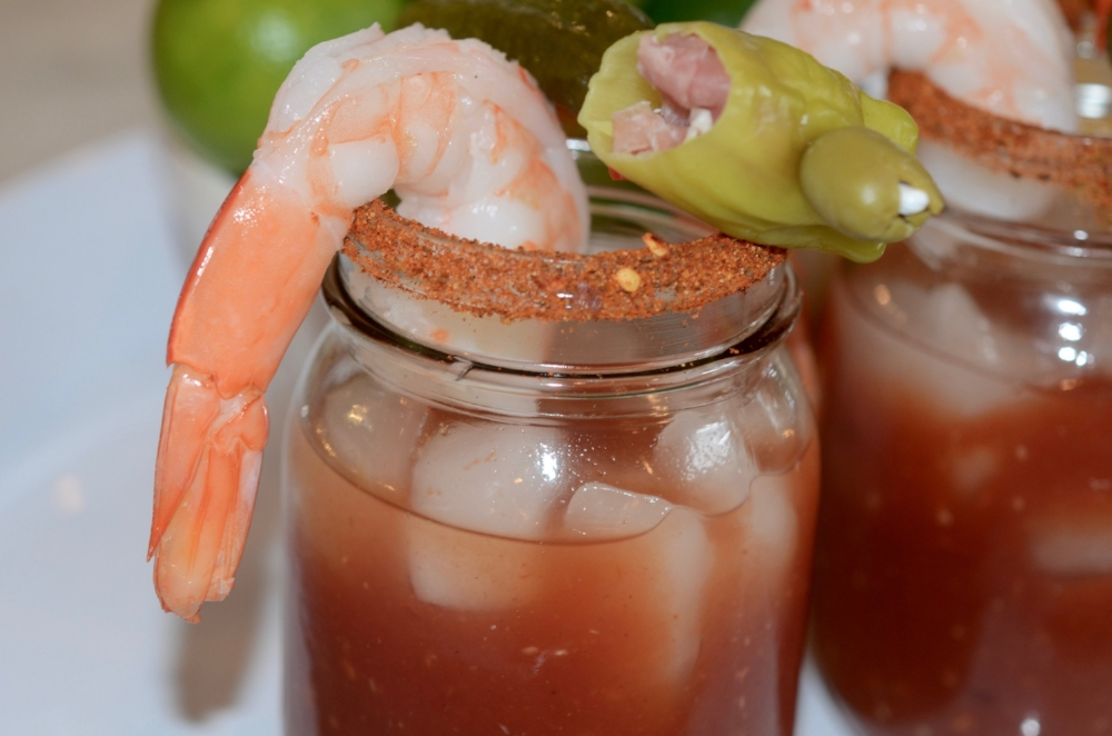 Ultimate Spicy Bloody Mary with Stuffed Peperonicinis
