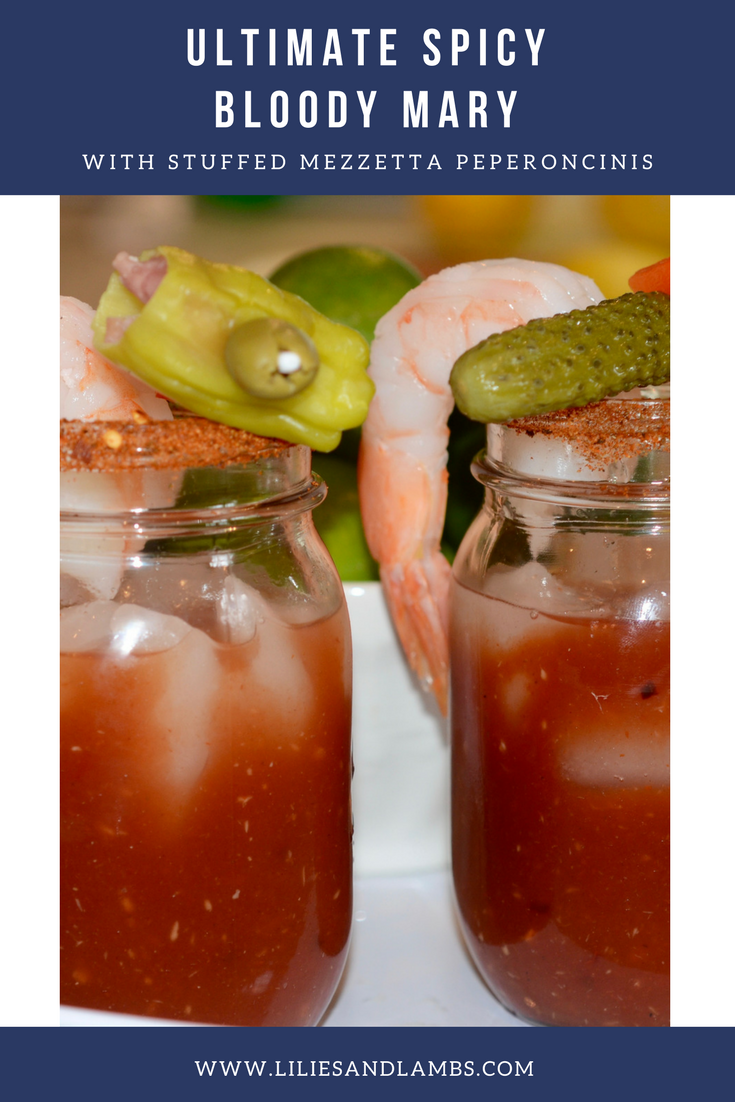 Ultimate Spicy Bloody Mary with Peperoncinis