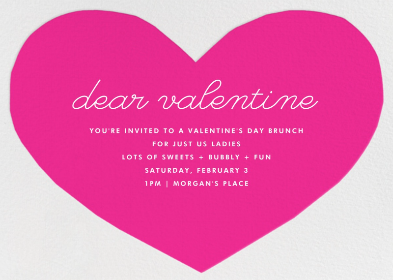 dear valentine ladies brunch