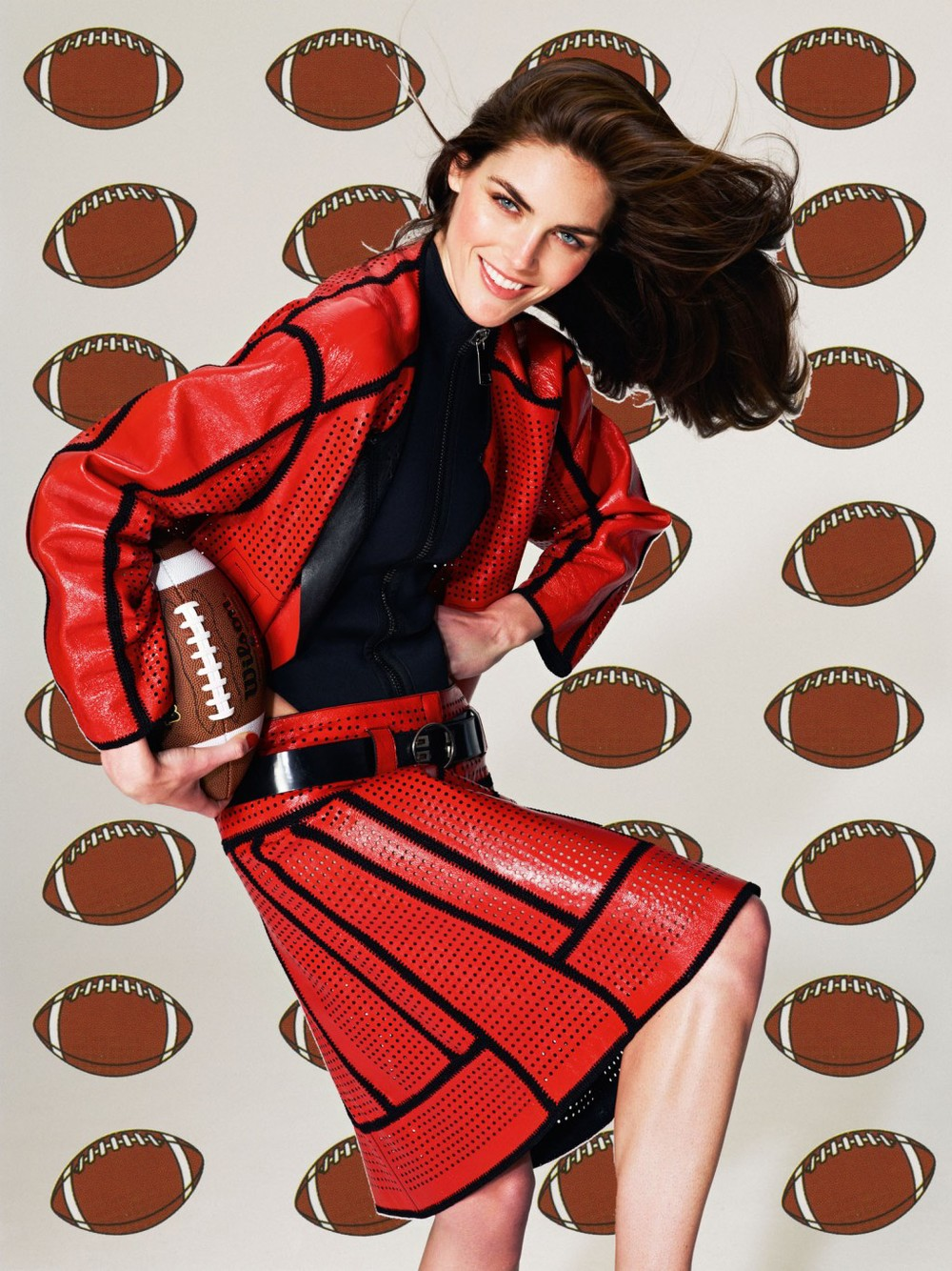 "Roe Ethridge, ""Hilary with Footballs"", 2013"