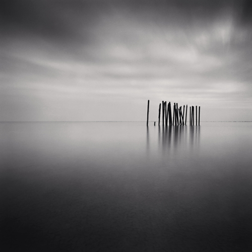 Pier Remains, Bodnor Regis, Sussex, England, 1990