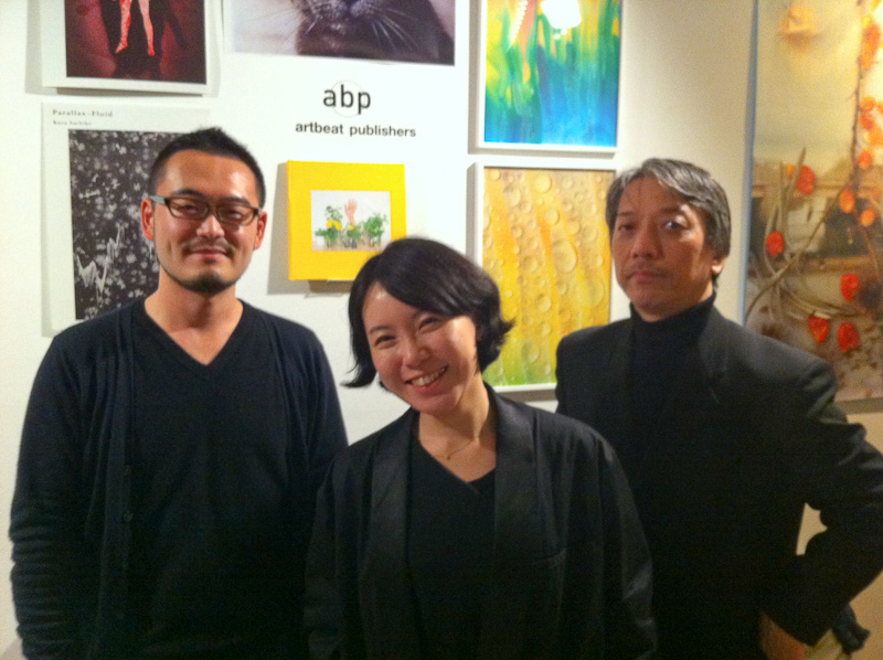 (From L-to-R): Taisuke Koyama with Sawako Fukai and Shigeo Goto of G/P Gallery and artbeat publishers at Off Print