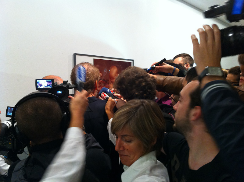 Press opening of the Larry Clark's Kiss the Past Hello exhibition
