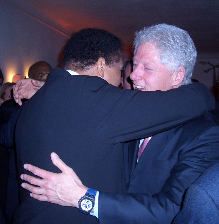 Clinton and Ali at Davos
