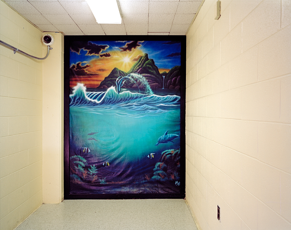 © ALYSE EMDUR - Anonymous Backdrop Painted in Shawangunk Correctional Facility, New York 2005-2011
