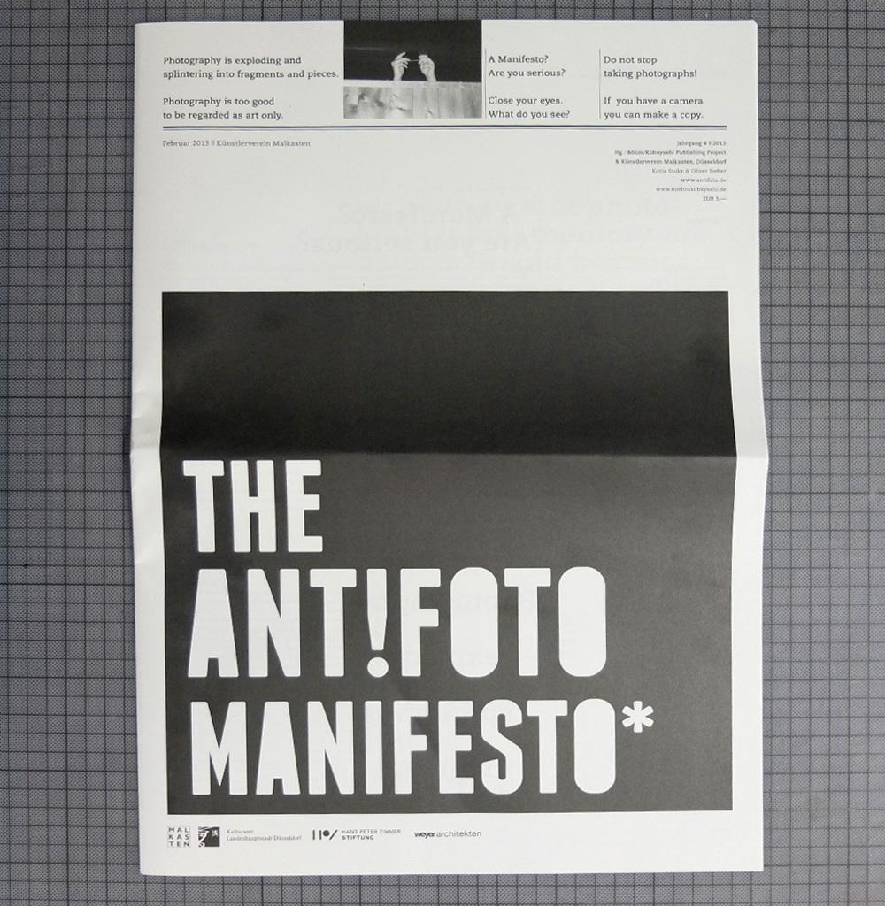 The Ant!foto Manifesto