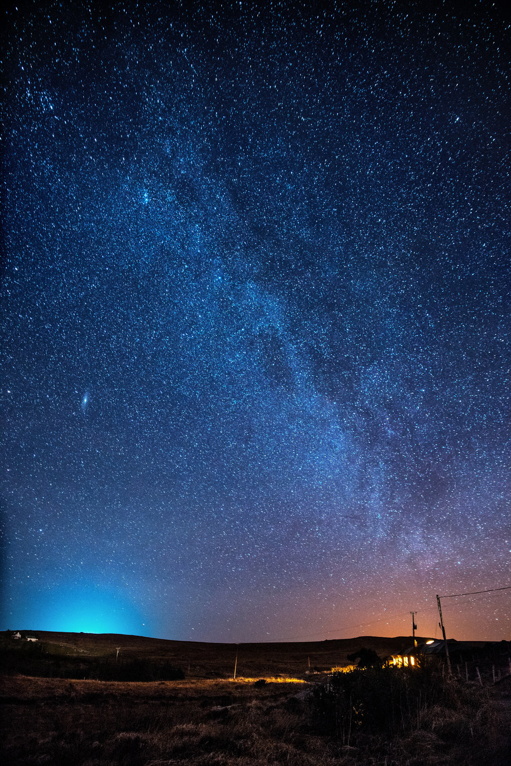 Milkyway over the Cottage