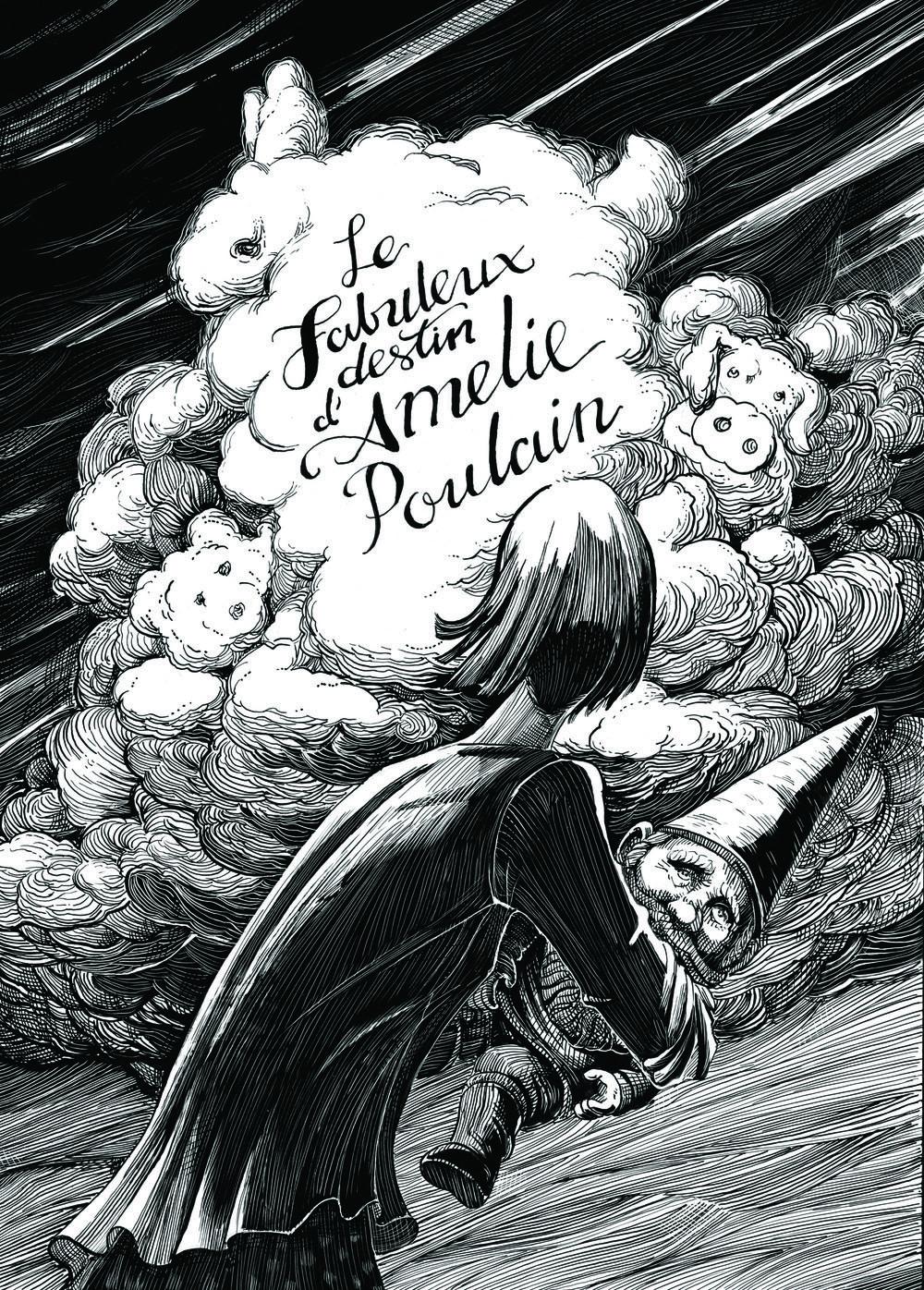 AMELIE POULAIN  (Movie Poster)  Personal project • Technique: Scratchboard