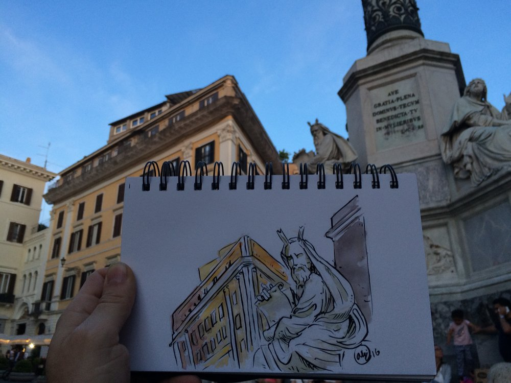 Italy - Rome sketch