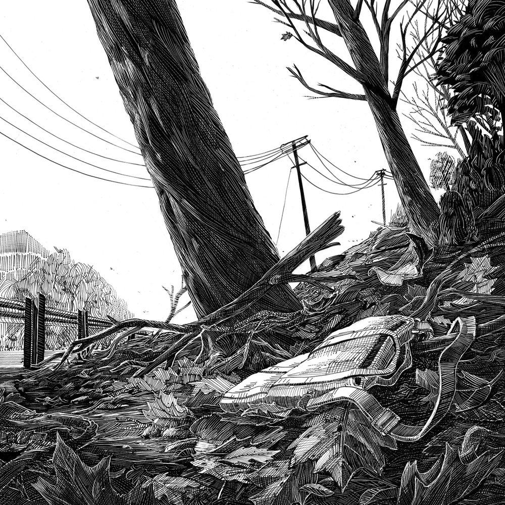 DORCHESTER BOYS   Illustration for the Boston Globe, on an issue of true crime. Art Direction: Heather Hopp-Bruce • Technique: Scratchboard