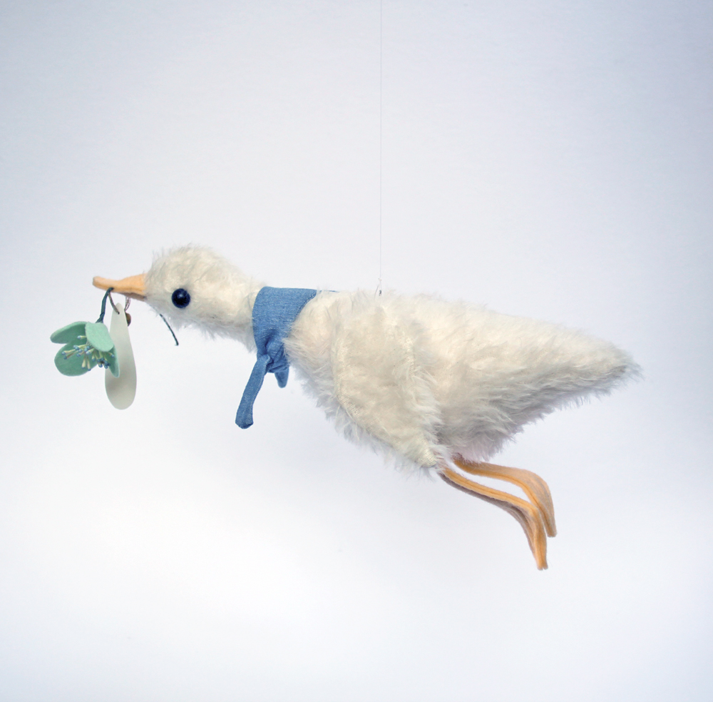 Hanging Mohair Duck Decoration — Mini Pomme on