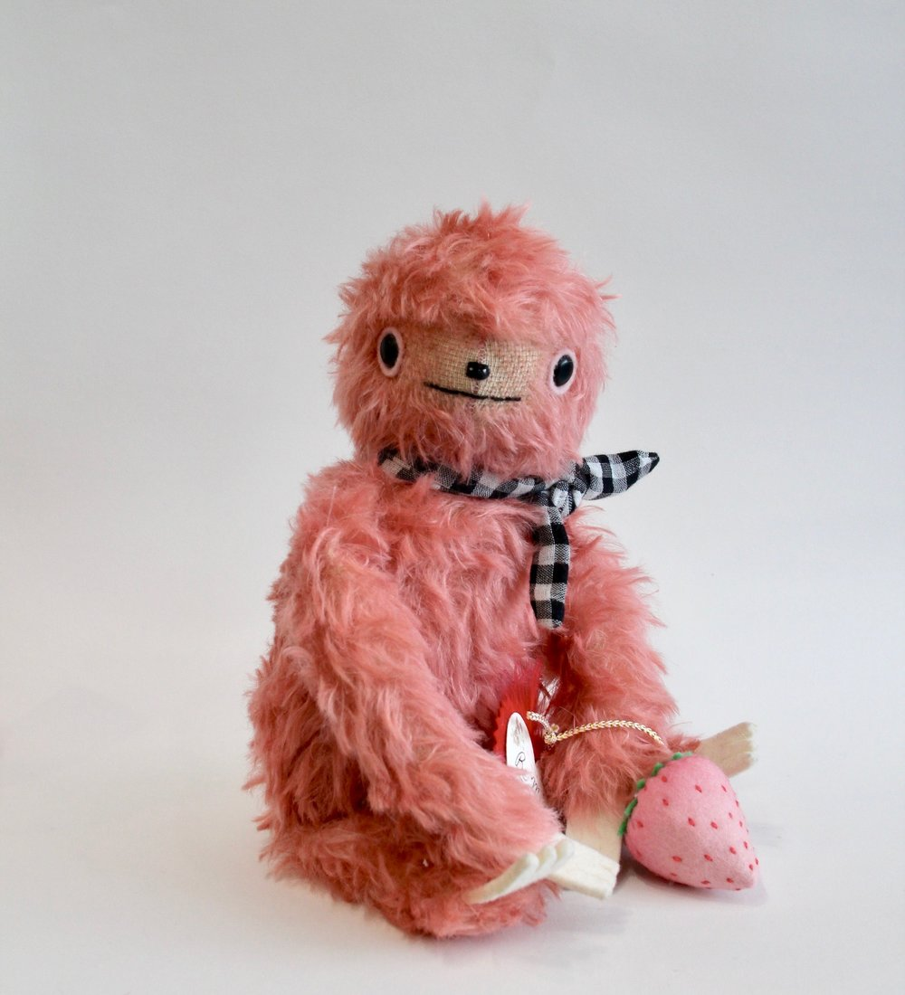 Hand-dyed Strawberry Sloth  SOLD OUT