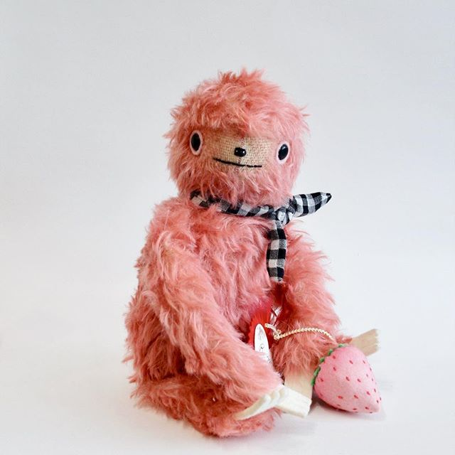 Today is the day! 12 noon CST I'll add toys to my shop. You can go now to see details if you like. This sloth is so soft and wooly and made from hand-dyed mohair🍓