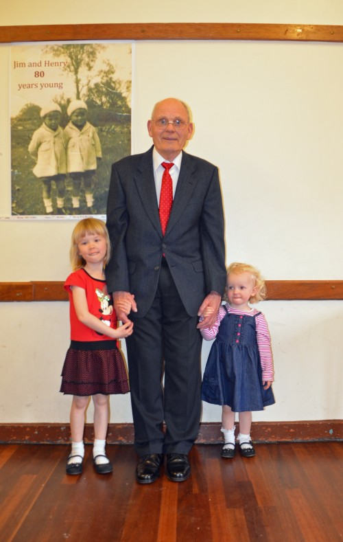 Grandad & 2 girls