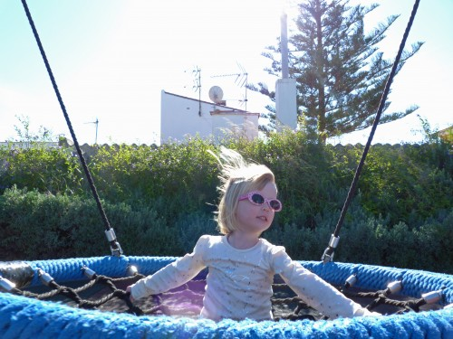 aly on swing