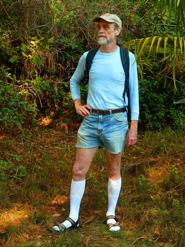 800px-Hiking_in_Knee_Socks,_Sandals,_and_Cut-offs
