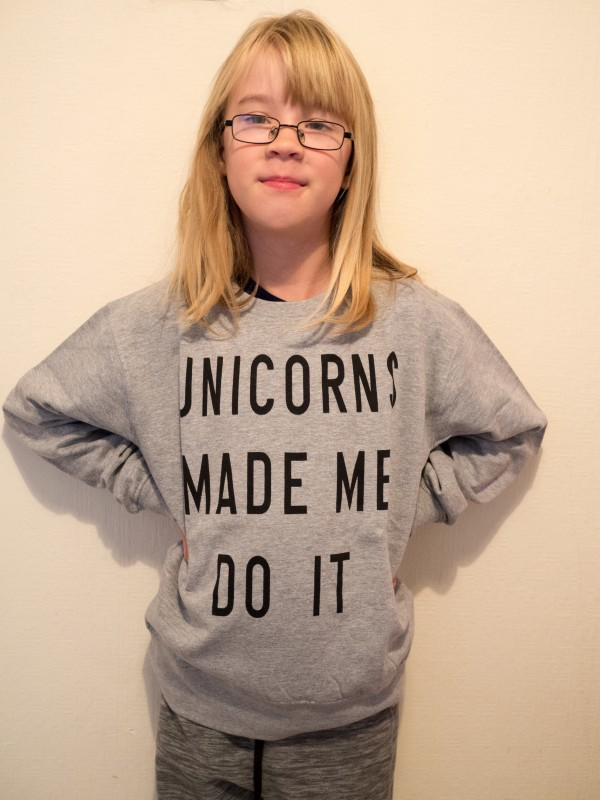 Boohoo Unicorn Sweat Top