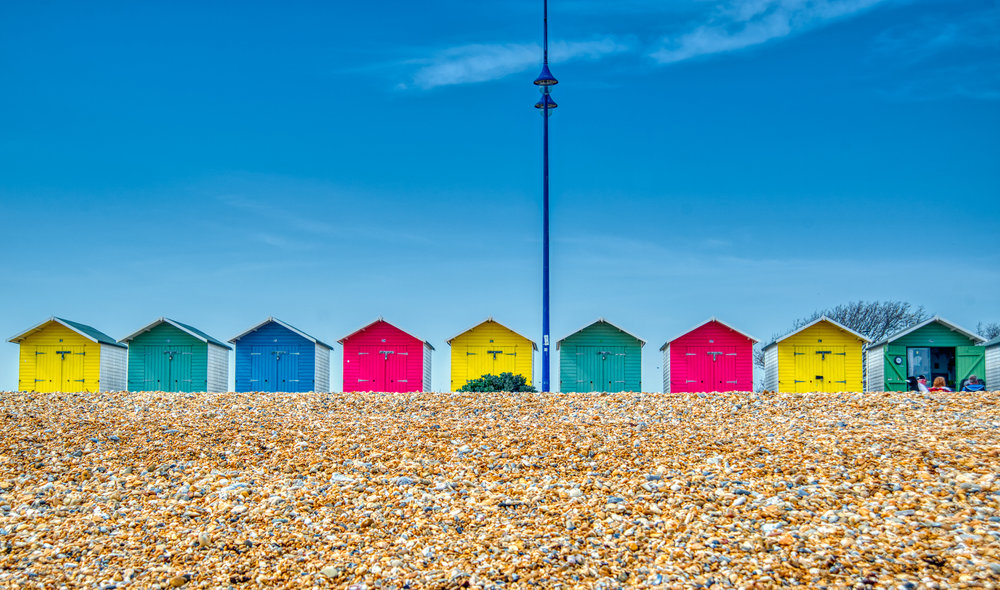 A Line of Beach Huts  | West Wittering, West Sussex