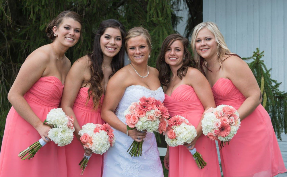 Our gorgeous bride Morgan and her beautiful bridesmaids on her wedding day. Photo by Shgarrity Photography.